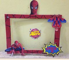 Spiderman Photo shoot frame, hombre araña marco para fotos, fun Photo shoot frames                                                                                                                                                                                 Más