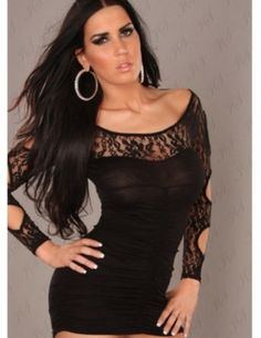 Cheap Sexy Mini Dress With Sleeve Precious Black Lace online - All Products,Fashion Dresses,Mini Dresses Mini Dress With Sleeves, Long Sleeve Mini Dress, Mini Club Dresses, Sexy Dresses, Clubbing Dresses, Bandage Dresses, Fashion Dresses, Buy Dress, Lace Dress