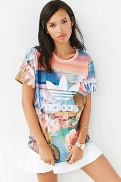 Floral logo adidas swag pinterest logos floral for Adidas floral shirt urban outfitters