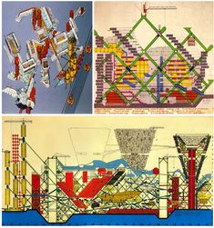 Plug-in city, by Peter Cook 1964. ARCHIGRAM – 60s Architectural Avant Garde