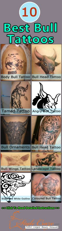 Best Bull Tattoos - Our Top 10