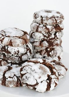 chocolate cherry crinkle cookies... - SO tasty! Not too rich, and I love chocolate and cherry together. The recipe disappeared from this blog, but this is the original recipe that I followed: http://www.foodnetwork.ca/guides/holidays/recipes/recipe.html?dishID=11477     Reece was a big fan too.