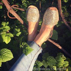 Avarca Sandale by Claudia M. Glitter sampanie pentru zile cu zambete