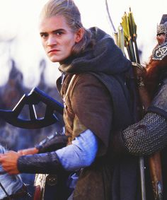 """This pic makes me laugh. It looks like Legolas would say, """"If you dare touch me or the dwarf I will go Elf on you!"""" <---- lol yes!"""