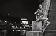 Gisele Bundchen - (black and white) Chanel S/S 2015 campaign for Karl Lagerfeld in Paris, 2015 (8)