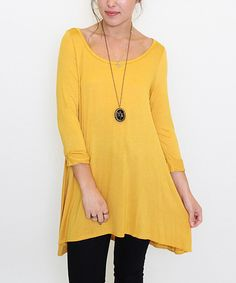 Look at this Caralase Yellow Ballerina Tunic on #zulily today!