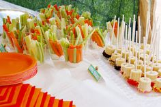 Fresh fruit and Veggie Bar - healthy birthday snacks