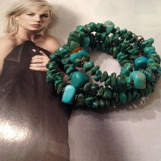 Vintage Sterling QT turquoise bracelet Beautiful vintage Sterling turquoise coil bracelet. Verity of sizes, shapes and color in the turquoise nuggets. Strung on a Sterling wire and Sterling spacers. Hang tag is marked Q.T. 925. (QT is for Quoc Turquoise inc.) Wind the bracelet right on your wrist, should fit most wrist sizes, Vintage Jewelry Bracelets