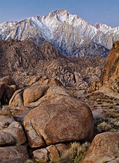 Lone Pine Peak from Alabama Hills (where they used to film so many of the old Western movies), California  photo credit: Jack Quintero