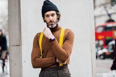 Zoom sur les meilleurs looks de rue pris sur le vif par Jonathan Daniel Pryce à la sortie des défilés homme automne-hiver 2016-2017 à Londres