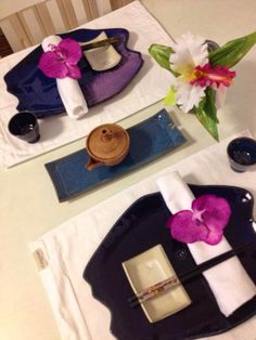 Mesa para um jantas japonês!
