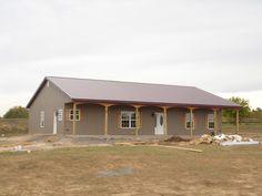 Exterior — Keane-Legacy Homes Metal Building Home Kits, Building A Pole Barn, Metal House Plans, Barn House Plans, Country House Plans, Building A House, Barn Plans, Metal Building Kits Prices, Metal Barn Homes