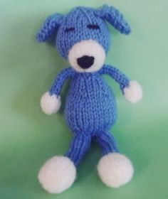 Sleepy Puppy - Knitted Toy Box