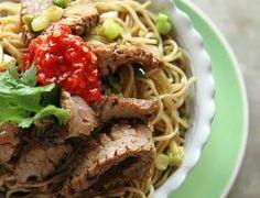 Beef Ginger Scallion noodles