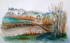 Laghetti di Briaglia (watercolor)