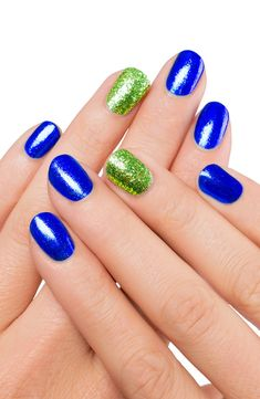 We love these nails because they perfectly represent our store colors!