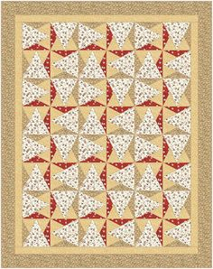 "Quilt Pattern - Attraction - 60"" x 76"" - Made w Moda, Allure by Sanae Fabric - Throw - Written so that a beginner can make this quilt"