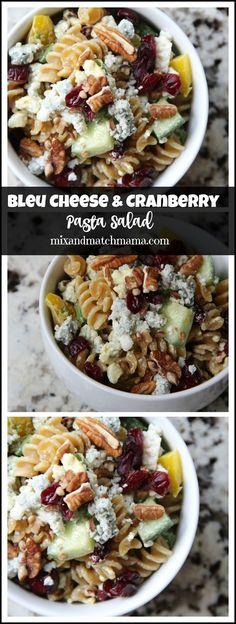 Bleu Cheese & Cranberry Pasta Salad