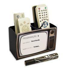 Porta-Controle Remoto TV - 17 x 8 x 13 cm
