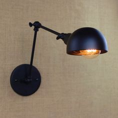Nordic Retro Style Loft Industrial Wall Lamp Vintage Fixtures With Long Arm Edison LED Wall Sconce Stair Light Lampe Rustic Lighting, Lamp, Sconce Lighting, Wall Sconces Bedroom, Sconce Light Fixtures, Lamp Light, Wall Lamp, Light, Black Wall Lamps