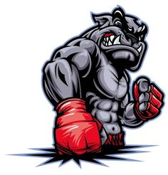 Illustrations, arts and drawings related to Fitness and Gym Activities. Muay Thai, Bulldog Tattoo, Bulldog Logo, Bulldog Mascot, Gym Logo, Animal Logo, The Villain, Cartoon Art, Martial Arts
