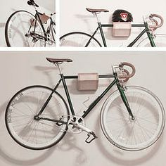 Float. Soporte para bicicleta en muro.