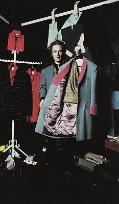 McLaren flogging Teddy Boy jackets in his King's Road store Let It Rock, 1971