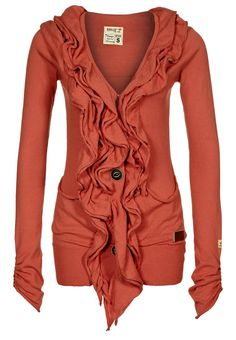 khujo HOLLYHOOK - Cardigan - orange what the hell. I'm obsessed with this. Looks Style, Looks Cool, Style Me, Pastel Outfit, Fall Cardigan, Coral Sweater, Cotton Cardigan, Sweater Jacket, Outfits