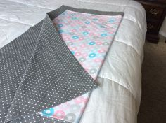 Girls Receiving Blanket by TeaTimeQuiltsnMore on Etsy $32.95