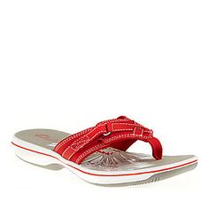 Clarks Women's Breeze Sea Thong Sandals - like walking on pillows.. I have a black pair and a white pair.