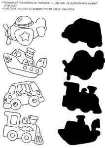 Crafts,Actvities and Worksheets for Preschool,Toddler and Kindergarten.Lots of worksheets and coloring pages. Preschool Learning Activities, Kindergarten Worksheets, Worksheets For Kids, Infant Activities, Toddler Preschool, Preschool Activities, Shadow Theme, Transportation Crafts, Matching Worksheets