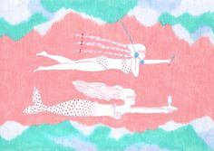 Graphic Patterns, Textile Patterns, Real Mermaids, Color Lines, Cute Illustration, Light Of My Life, Cute Art, Colored Pencils, Illustrators
