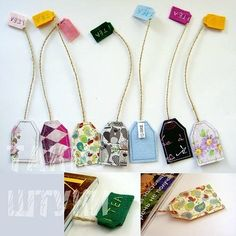 Tons of Scrap Fabric Sewing Projects DIY Tea Bag Bookmarks made out of s. - Tons of Scrap Fabric Sewing Projects DIY Tea Bag Bookmarks made out of scrap fabric and oth - Diy Bookmarks, How To Make Bookmarks, Ribbon Bookmarks, Sewing Hacks, Sewing Crafts, Sewing Tips, Sewing Tutorials, Sewing Art, Diy Tea Bags