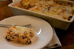 This is by far one of my favorite casseroles of all time.  It's easy, it feeds a crowd, and it's got all my favorite Mexican flavors.  I like to make this on Sundays, and then…
