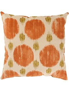Pillow Perfect Polkaspot 18-Inch Throw Pillow, Desert ❤ Pillow Perfect Orange Throw Pillows, Perfect Pillow, Polka Dot Print, Home Decor Outlet, Home Gifts, Floor Pillows, Decorative Pillows, Home And Garden, Abstract