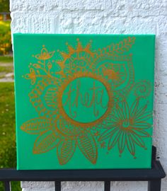 Theta Boho Floral Canvas by wheatstreetwithlove on Etsy