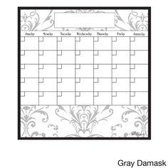 15-Inch x 15-Inch Dry Erase Monthly Calendar Magnet