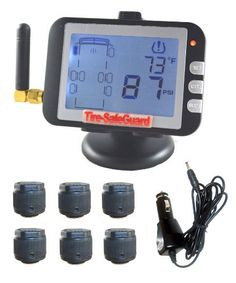 6 Tire Cap Sensor RV/Truck Tire Pressure Monitoring System (TPMS). For product info go to:  https://www.caraccessoriesonlinemarket.com/6-tire-cap-sensor-rvtruck-tire-pressure-monitoring-system-tpms/