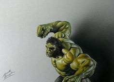 Hulk smash! 3D Drawing by Marcello Barenghi (pictures and full drawing process video)