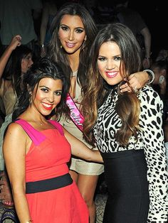 Khloe Kardashian, Kim Kardashian, Kourtney Kardashian.  They are my favorite sisters to watch on tv! They are so funny and they remind me of how I am with my sisters :) They are hard working and inspirational women and I love them.