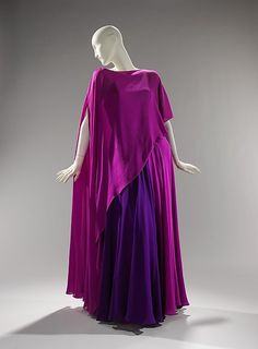 Dress designer: Madame Grès 1967   The Metropolitan Museum of Art  Love It, and love the 2 colors together!  From: Alice Cicek