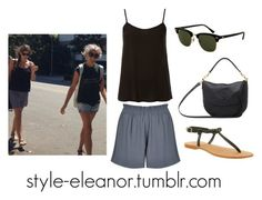 """Eleanor and Lou Teasdale in Los Angeles"" by iloveeleanorcalder ❤ liked on Polyvore featuring Topshop, Boutique, Office, Ray-Ban, Mulberry, eleanor, eleanorcalder, eleanorcalderstyle and Eleanorstyle"