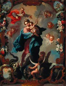 José de Ibarra, Virgen del Apocalipsis.  Museo de América de Madrid