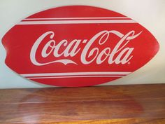 Coca Cola Skim Board - Sign - Boggy Board -  Mini Surf Board -  Soda - Coke
