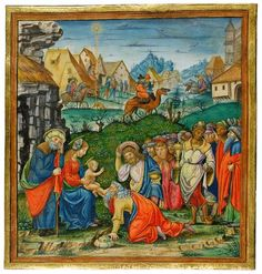 Adoration of Magi Cutting from a Gradual, in Latin Illuminated by Master B. F. Italy, Milan ca. 1500 220 x 208 mm | MS M.725 | The Morgan Library & Museum