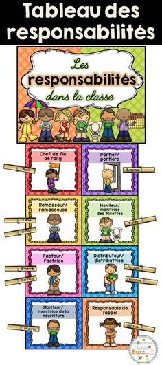 Engage students with this fun, interactive place value game. In this teacher vs student powerpoint game, students are comparing numbers in various forms. This include word form, expanded form, and standard form. There are different types of questions (ex. Classroom Jobs Display, Classroom Organization, Classroom Management, French Classroom Decor, French Teacher, Teaching French, Chevron Classroom, Powerpoint Games, Teacher Helper