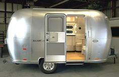 This Airstream camper for sale is the ideal fit for everyone who is searching for a new adventure when enjoying a modern style. So I began looking at Airstreams. The Airstream Basecamp for sale is … Airstream Bambi, Airstream Campers, Vintage Airstream, Vintage Caravans, Vintage Travel Trailers, Vintage Campers, Airstream Interior, Vintage Rv, Airstream Bathroom