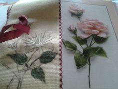 En proceso de la creación Moña con rosa, Círculo de Bordado - www.homelinengt.com