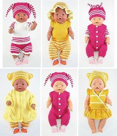 Baby Born Patronen Gratis Breien Most Popular Ideas Knitting Dolls Clothes, Sewing Dolls, Knitted Dolls, Doll Clothes Patterns, Doll Patterns, Baby Knitting Patterns, Free Knitting, Baby Born Clothes, Summer Knitting