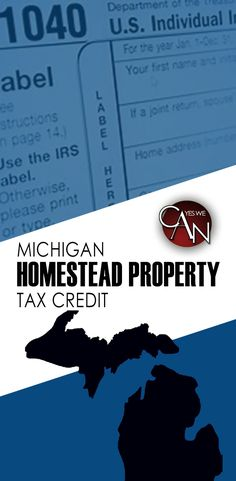 The Michigan Homestead Property Tax Credit assists both homeowners and renters who meet the criteria in paying a portion of homestead property taxes. Homestead Property, Property Tax, Investment Group, Tax Credits, State Of Michigan, Homesteading, Investing, Household